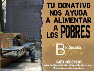tu donativo nos ayuda a alimentar a los pobres