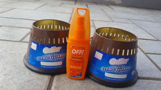 vela de citronela y repelente de mosquitos