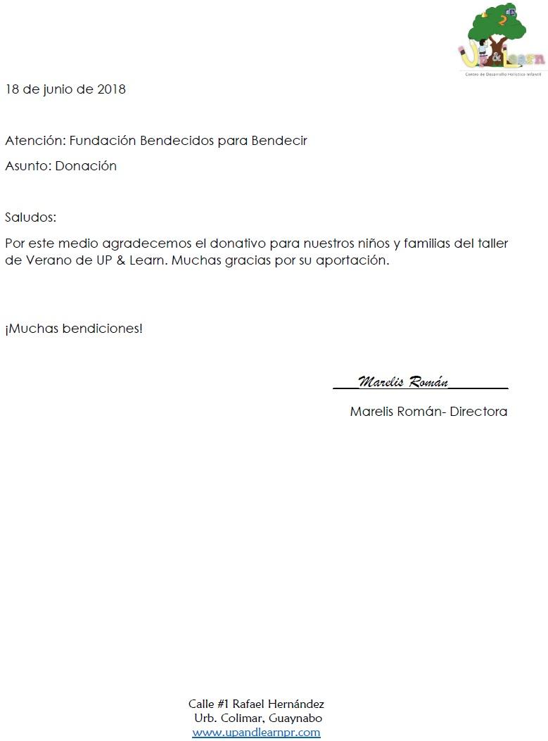 Cartas Fundacion Bendecidos Para Bendecir
